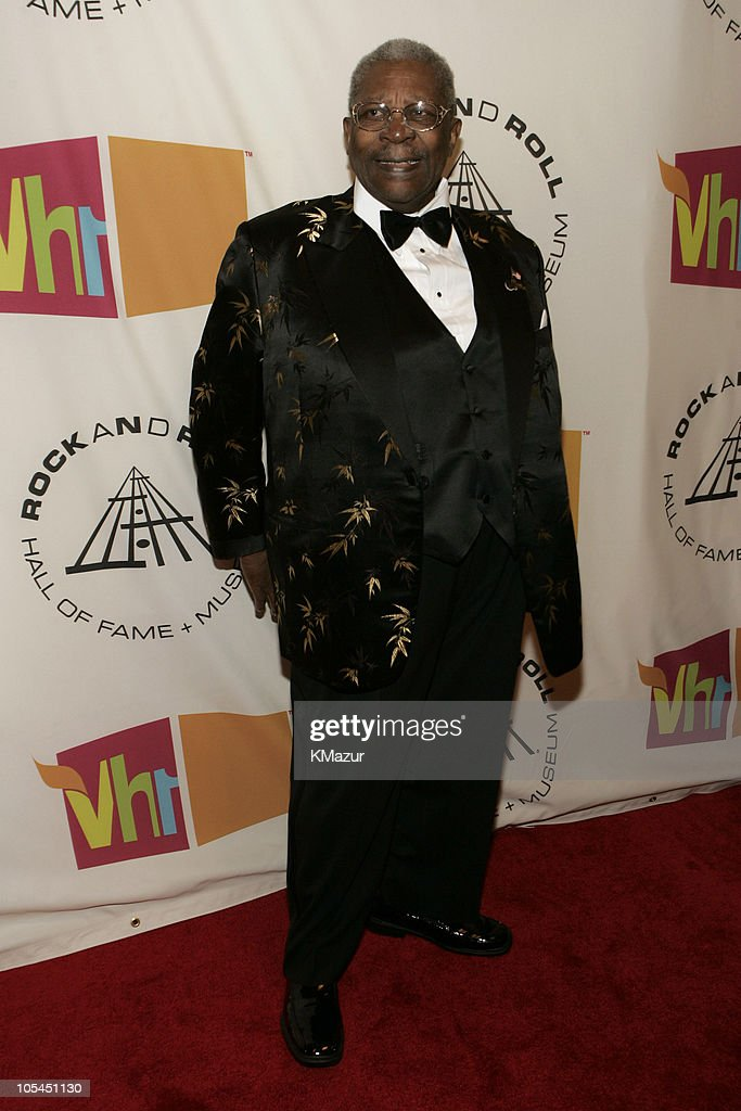 B.B. King, presenter during 20th Annual Rock and Roll Hall of Fame Induction Ceremony - Red Carpet at Waldorf Astoria in New York City, New York, United States.