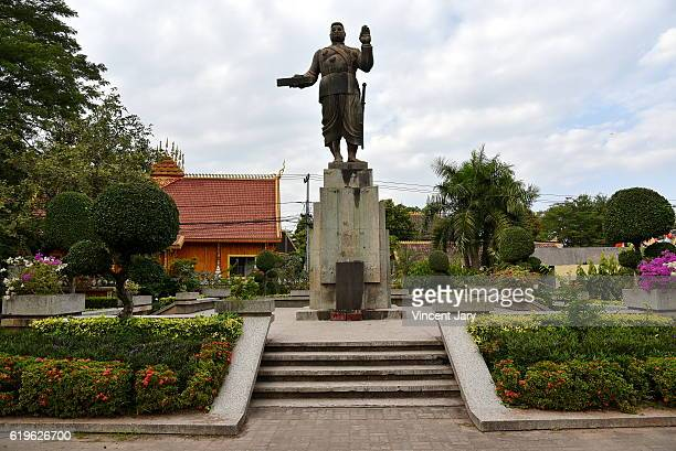 King Sisavang Vong statue Vientiane Laos