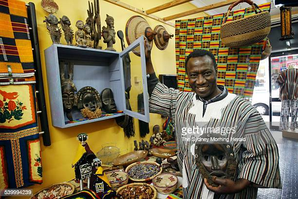 465 King Street Newtown African Nomad owner Alex Ohene 9 August 2006 SMH Picture by NARELLE AUTIO