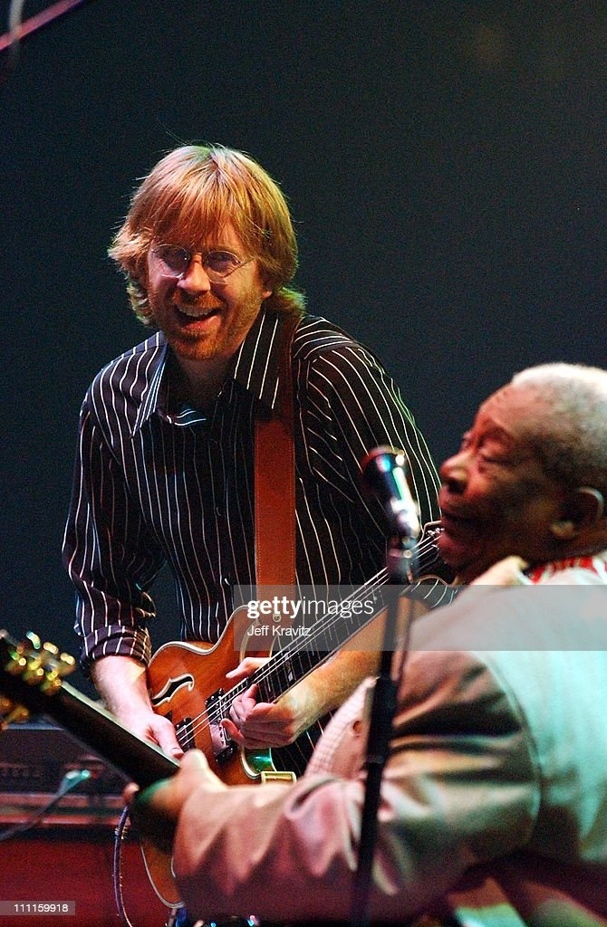BB King & Trey Anastasio during Phish Live in New Jersey at Continental Airlines Arena in Secaucus, New Jersey, United States.