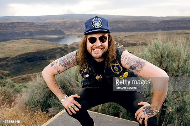 King Tuff poses for a portrait backstage at the Sasquatch Music Festival at the Gorge Amphitheater on May 27 2015 in George Washington