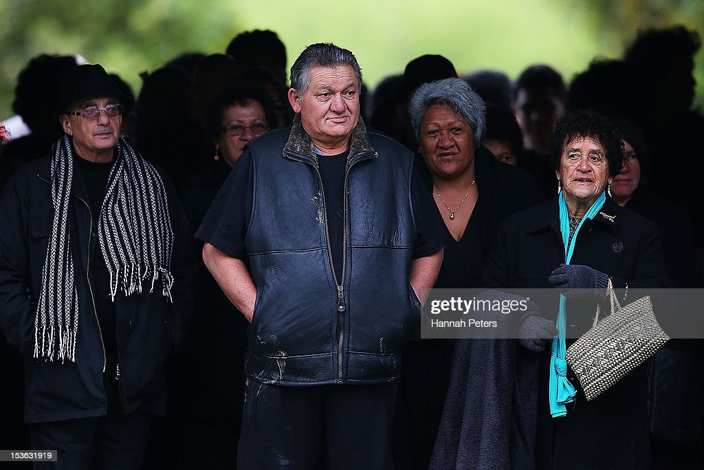 King Tuheitia walks onto Waahi marae after arriving in a waka on October 8, 2012 in Huntly, New Zealand. King Tuheitia marked the anniversary of his grandfather's coronation with a waka taua journey from Ngaaruawaahia to Waahi marae.