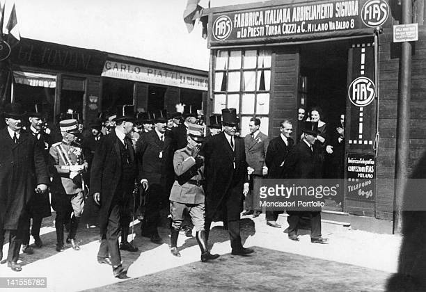 King Victor Emmanuel III of Savoy visiting the pavilion FIAS at the Second Trade Fair in Milan Milan 1921
