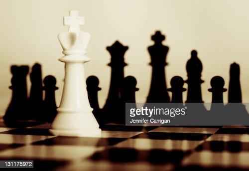king white chess piece : Stock Photo