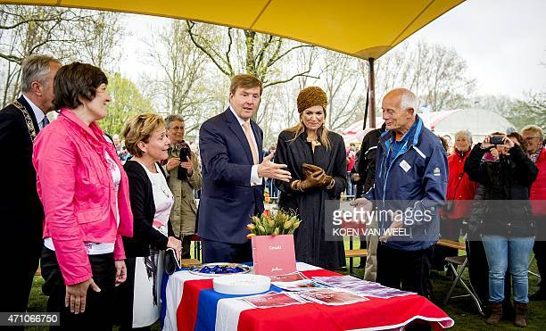 King Willem Alexander and Queen Maxima of the Netherlands attend a festival celebrating the right of freedom of assembly and association on April 25...