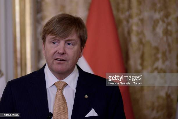 King Willem Alexander of Netherlands at the Quirinale on June 20 2017 in Rome Italy