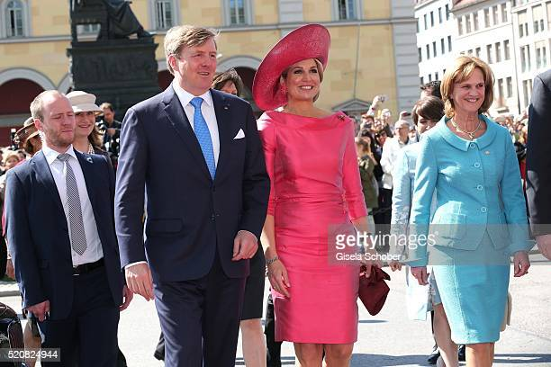 King WillemAlexander and his wife Queen Maxima of the Netherlands and Karin Seehofer during a twoday visit in Bavaria to strengthen the relationship...
