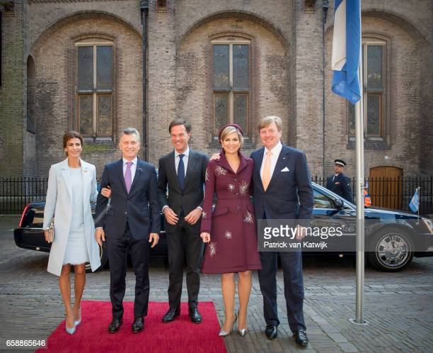King WillemAlexander and Queen Maxima of The Netherlands and President Mauricio Macri and his wife Juliana Awada of Argentine visit Dutch prime...