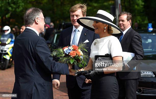 King WillemAlexander and Queen Maxima of the Netherlands are pictured at the arrival at the University of Oldenburg together with Prime Minister of...