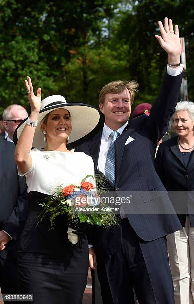 King WillemAlexander and Queen Maxima of The Netherlands arrive at Oldenburg University on May 26 2014 in Oldenburg Germany