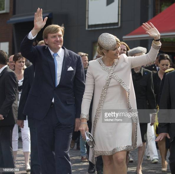 King WillemAlexander and Queen Maxima of The Netherlands attend activities during their one day visit to Groningen and Drenthe provinces on May 28...