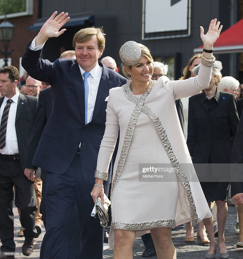 King Willem-Alexander and Queen Maxima of The Netherlands attend activities during their one day visit to Groningen and Drenthe provinces on May 28, 2013 in Assen, Netherlands.