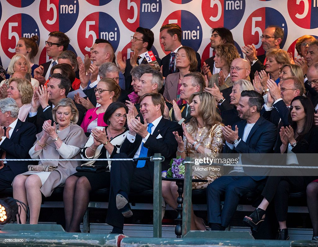 <a gi-track='captionPersonalityLinkClicked' href=/galleries/search?phrase=King+Willem-Alexander&family=editorial&specificpeople=160214 ng-click='$event.stopPropagation()'>King Willem-Alexander</a> and Queen Maxima of The Netherlands attend the Liberation Day Concert on May 5, 2016 in Amsterdam, Netherlands. Liberation Day (Dutch: Bevrijdingsdag) is celebrated each year on May the 5th to mark the end of the occupation by Nazi Germany during World War II.