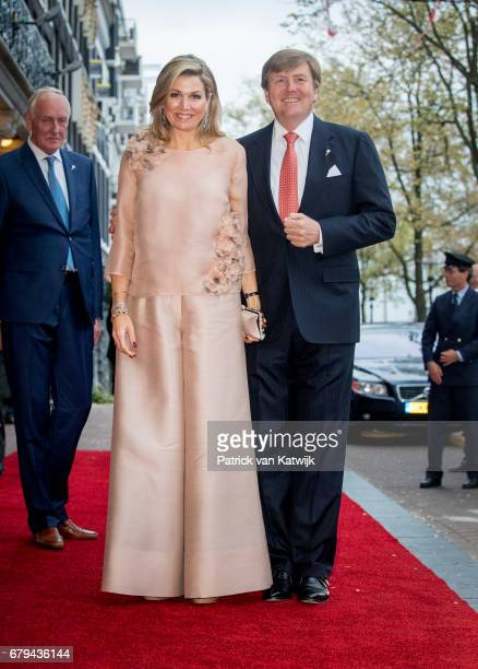 King WillemAlexander and Queen Maxima of The Netherlands attend the annual Liberation Day concert on the Amstel on May 05 2017 in Amsterdam...