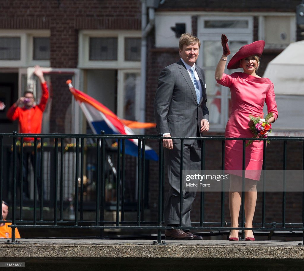 King Willem-Alexander and Queen Maxima of The Netherlands celebrate King's Day on April 27, 2015 in Dordrecht, Netherlands.