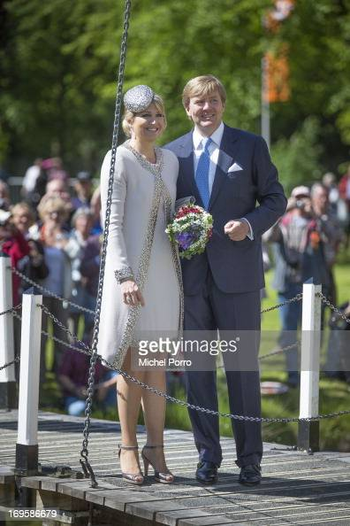 King WillemAlexander and Queen Maxima of The Netherlands participate in activities during thei one day visit to Groningen and Drenthe provinces at...