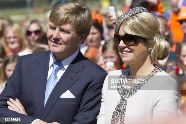 King WillemAlexander and Queen Maxima of The Netherlands participate in activities during their one day visit to Groningen and Drenthe provinces at...