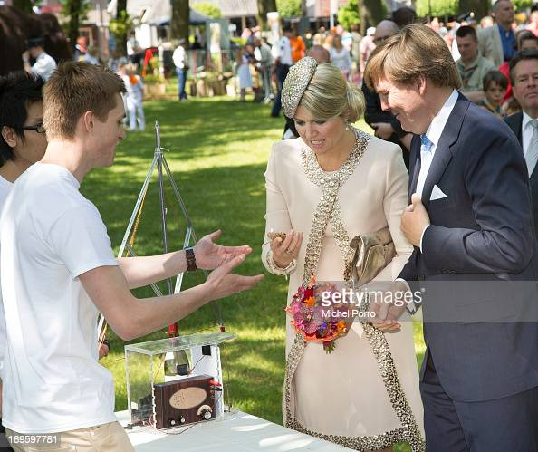 King WillemAlexander and Queen Maxima of The Netherlands participate in activities during a one day visit to Groningen and Drenthe provinces at...