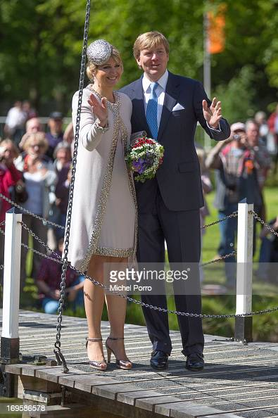 King WillemAlexander and Queen Maxima of The Netherlands take part in activities while visiting Leek during a one day visit to Groningen and Drenthe...