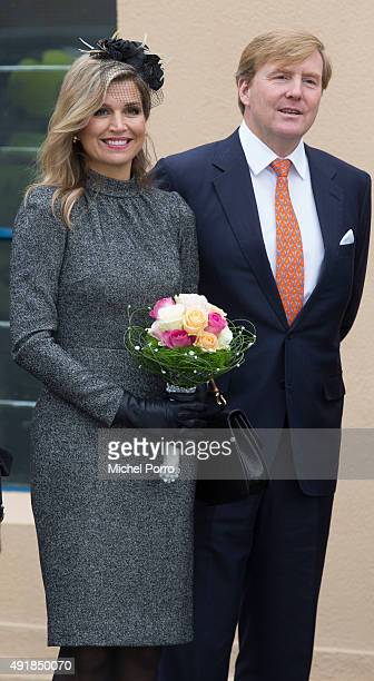 King WillemAlexander and Queen Maxima of The Netherlands visit the former mining region on October 8 2015 in Kerkrade Netherlands The region this...