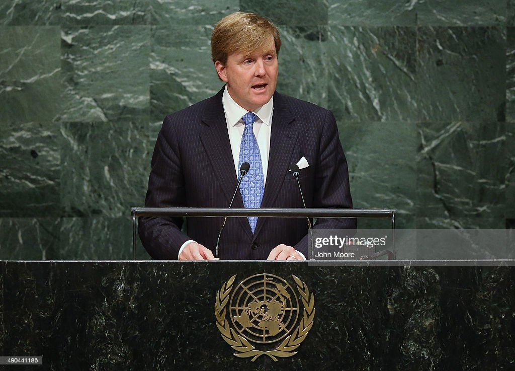 <a gi-track='captionPersonalityLinkClicked' href=/galleries/search?phrase=King+Willem-Alexander&family=editorial&specificpeople=160214 ng-click='$event.stopPropagation()'>King Willem-Alexander</a> of the Netherlands addresses the United Nations General Assembly on September 28, 2015 in New York City. World leaders gathered for the 70th session of the annual meeting.