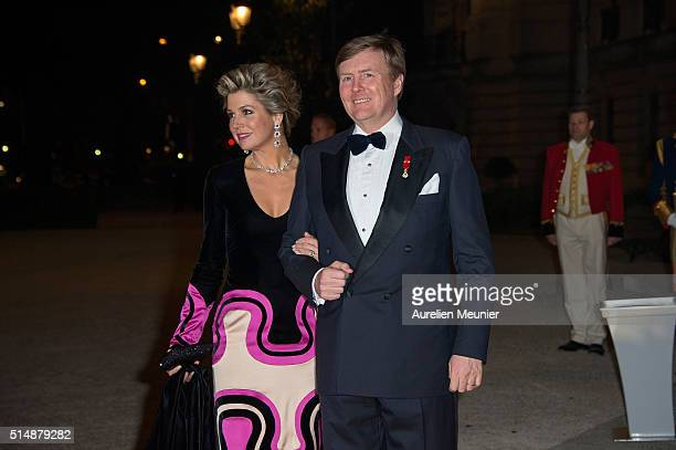 King WillemAlexander of the Netherlands and Queen Maxima arrive to a reception given by King WillemAlexander of the Netherlands and Queen Maxima in...