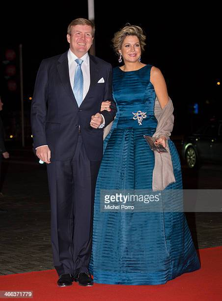 King WillemAlexander of The Netherlands and Queen Maxima of The Netherlands attend a celebration of the reign of Princess Beatrix on February 1 2014...
