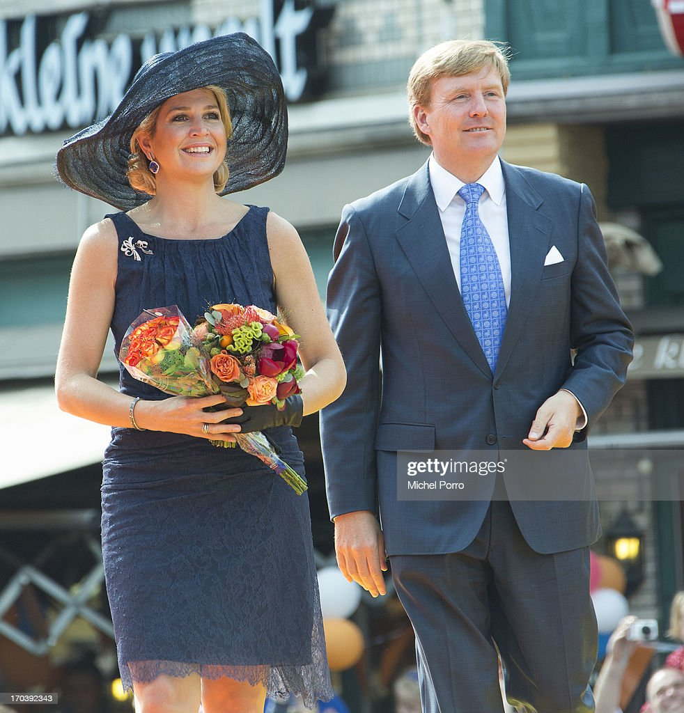 King Willem-Alexander of the Netherlands and Queen Maxima of The Netherlands during an official visit on June 12, 2013 in Den Bosch, Netherlands.