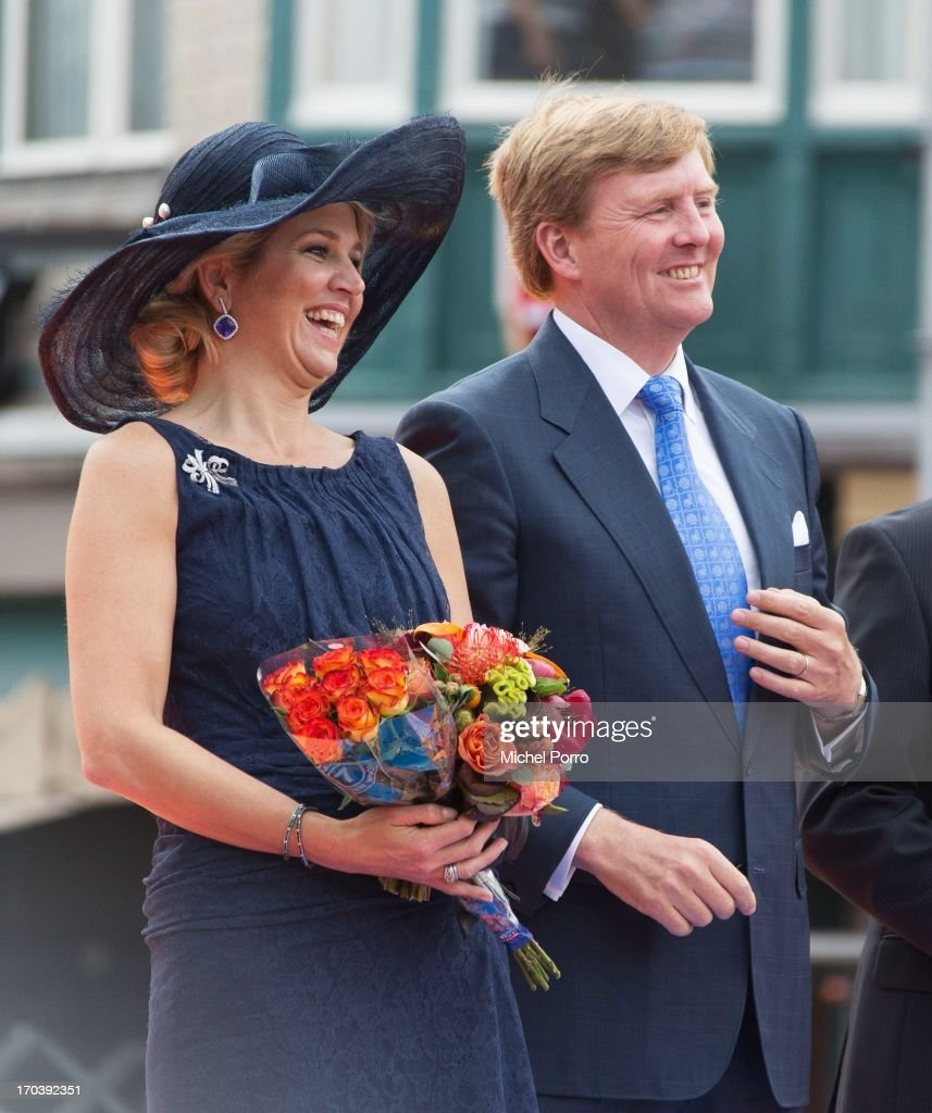 <a gi-track='captionPersonalityLinkClicked' href=/galleries/search?phrase=King+Willem-Alexander&family=editorial&specificpeople=160214 ng-click='$event.stopPropagation()'>King Willem-Alexander</a> of the Netherlands and Queen Maxima of The Netherlands during an official visit on June 12, 2013 in Den Bosch, Netherlands.