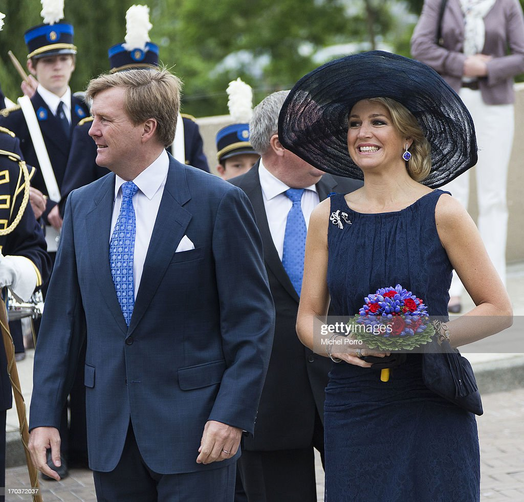 King Willem-Alexander of The Netherlands and Queen Maxima of The Netherlands are seen during an official visit on June 12, 2013 in Venlo, Netherlands.