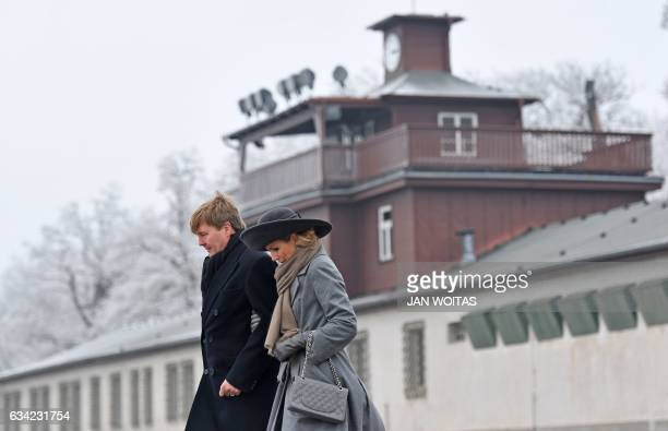 King WillemAlexander of the Netherlands and Queen Maxima of the Netherlands are seen after they laid roses to pay tribute of the victims at the...
