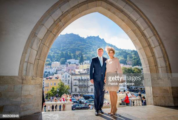 King WillemAlexander of The Netherlands and Queen Maxima of The Netherlands visit Palacio da Vila on October 12 2017 in Sintra Portugal