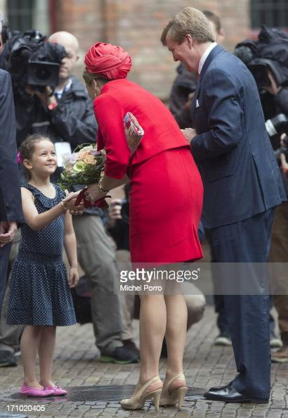 King WillemAlexander of The Netherlands and Queen Maxima of The Netherlands arrive for an official visit on June 21 2013 in Middelburg Netherlands