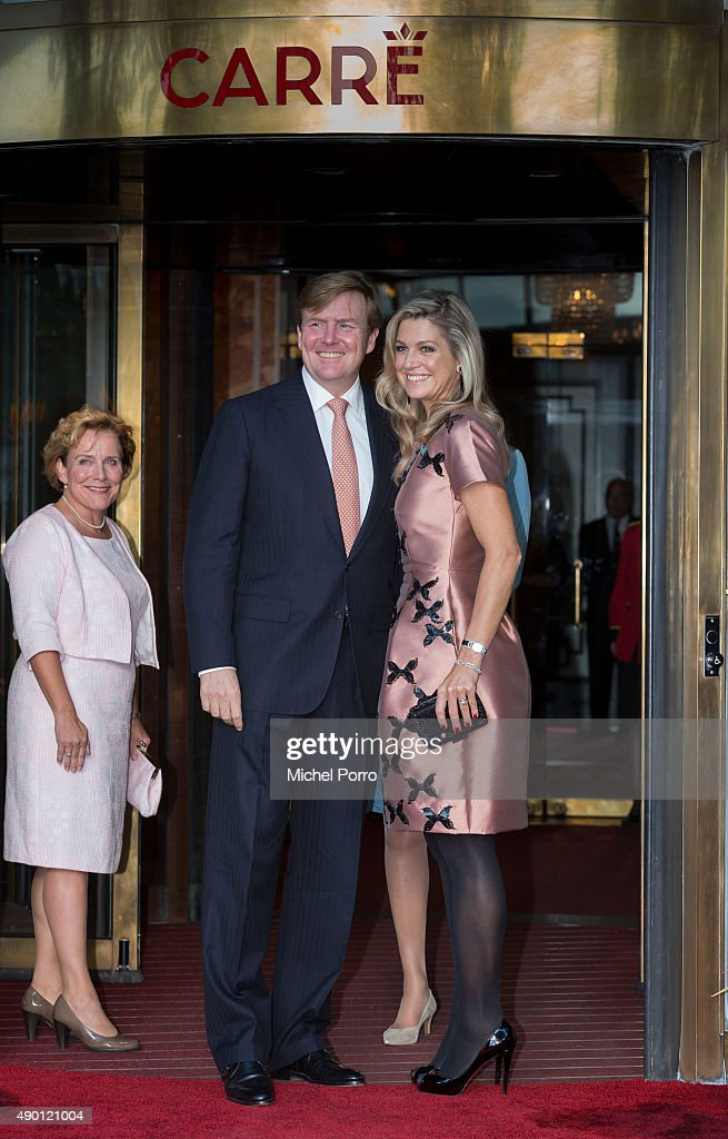 King Willem-Alexander of The Netherlands (L) and Queen Maxima of The Netherlands arrive for festivities marking the final celebrations of 200 years Kingdom of The Netherlands on September 26, 2015 in Amsterdam, Netherlands