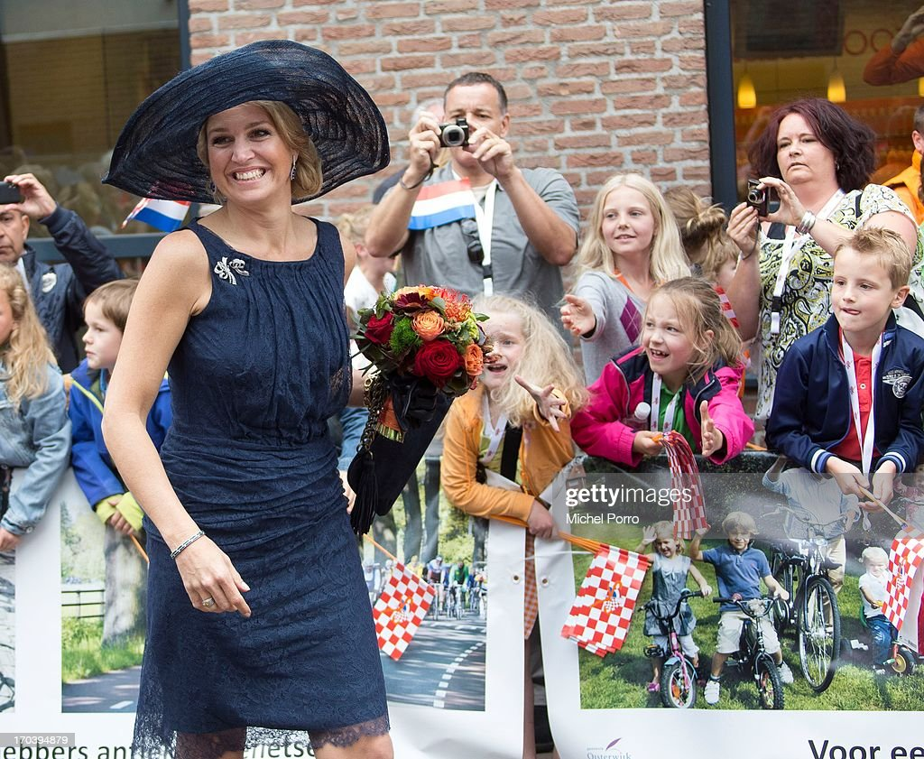 King Willem-Alexander of the Netherlands and Queen Maxima of The Netherlands make an official visit during the Coronation Tour on June 12, 2013 in Oisterwijk, Netherlands.