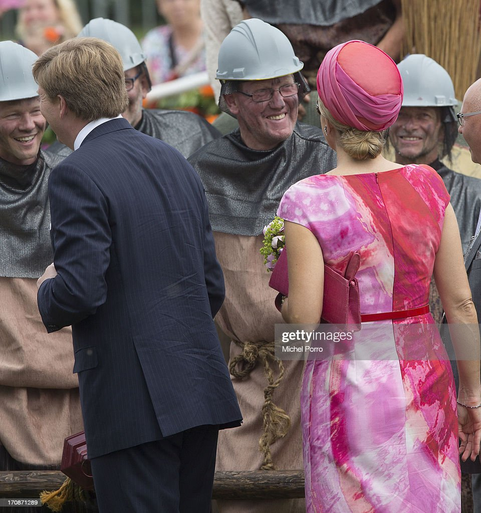 'S-HEERENBROEK, NETHERLANDS - JUNE 19: King Willem-Alexander of The Netherlands and Queen Maxima of The Netherlands make an official visit to the town centre on June 19, 2013 in 's-Heerenbroek, Netherlands.