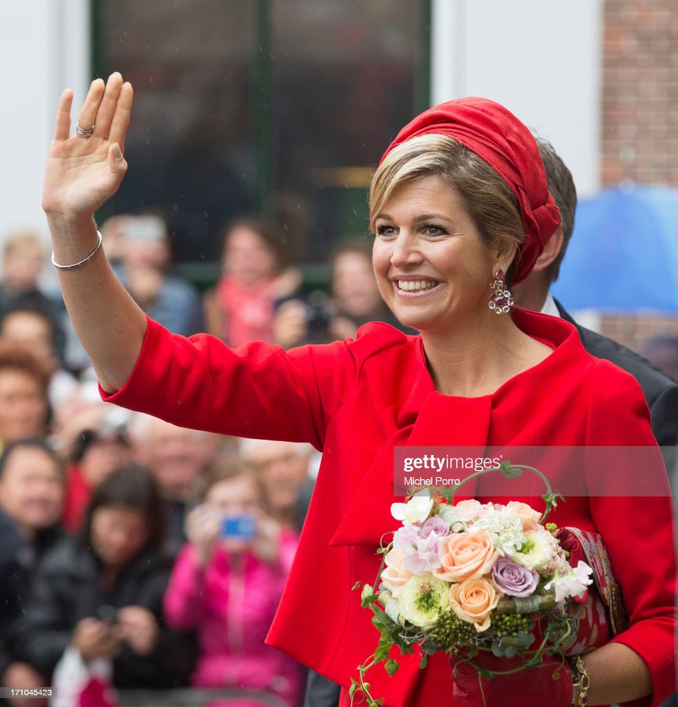 King Willem-Alexander of The Netherlands and Queen Maxima of The Netherlands visit Zierikzee on June 21, 2013 in Middelburg, Netherlands.