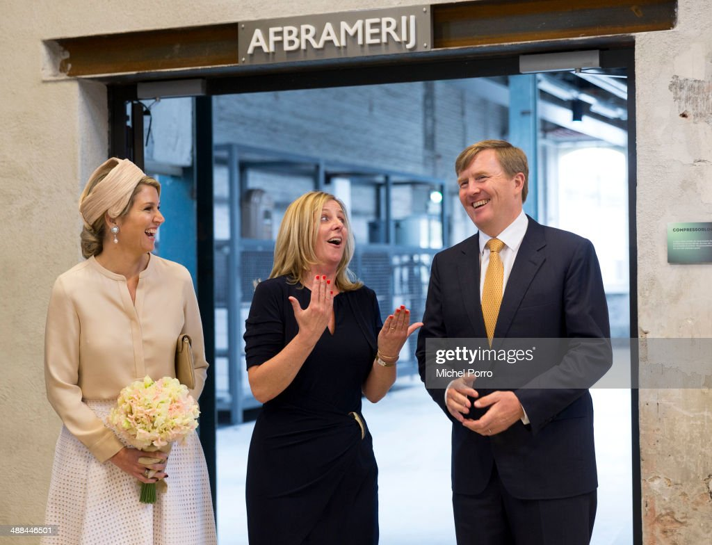 King Willem-Alexander of The Netherlands and Queen Maxima of The Netherlands arrive on the start of a regional tour in The Achterhoek on May 6, 2014 in Borculo, Netherlands.