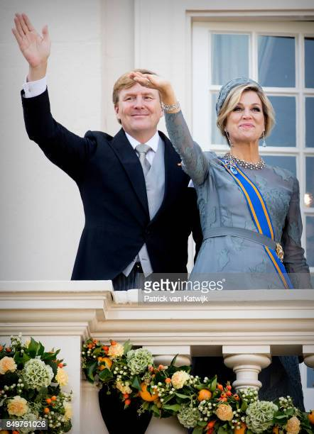 King WillemAlexander of The Netherlands and Queen Maxima of The Netherlands on the balcony of Palace Noordeinde during Prinsjesdag on September 19...