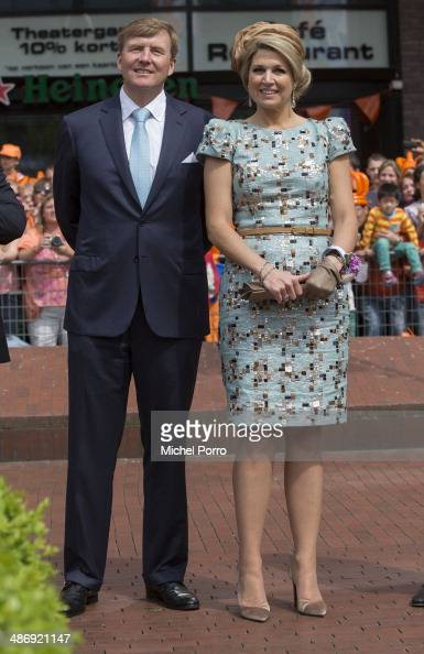 King WillemAlexander of The Netherlands and Queen Maxima of The Netherlands attend King's Day celebrations on April 26 2014 in Amstelveen Netherlands