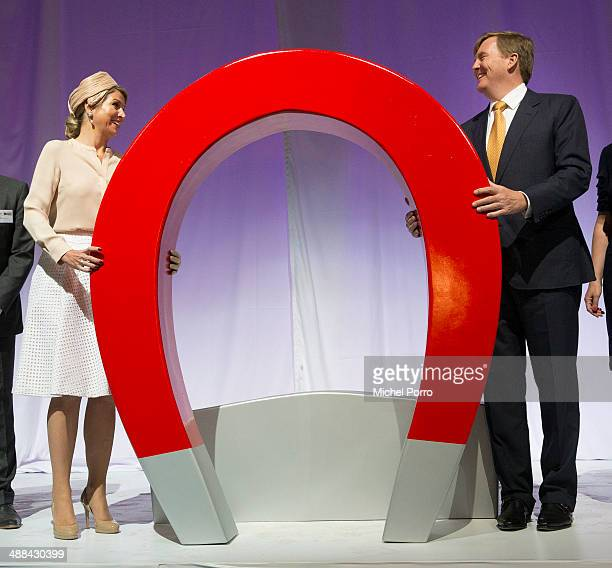 King WillemAlexander of The Netherlands and Queen Maxima of The Netherlands officially open the new ICER building at the DRU industrial park as part...
