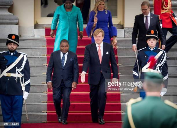 King WillemAlexander of The Netherlands and Queen Maxima of The Netherlands welcome President Filipe Nyusi of Mozambique and his wife Isaura Nyusi at...