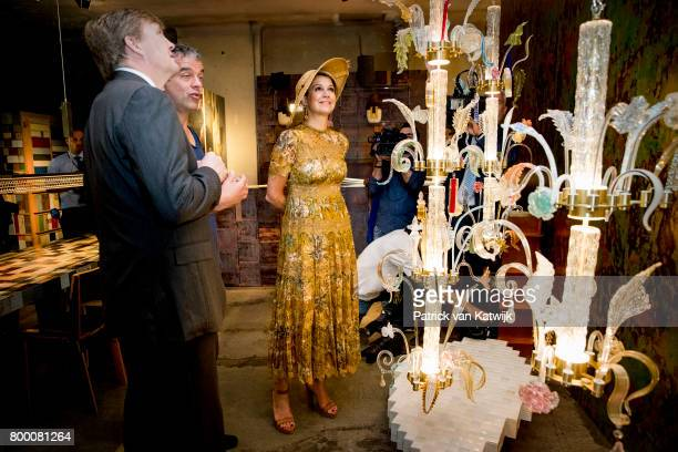 King WillemAlexander of The Netherlands and Queen Maxima of The Netherlands visit Galleria Rossanna Orlandi during the fourth day of a royal state...