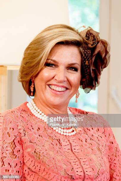 King WillemAlexander of The Netherlands and Queen Maxima of The Netherlands visits Prime Minister Antonio Costa at Palacio de Sao Bento on October 11...