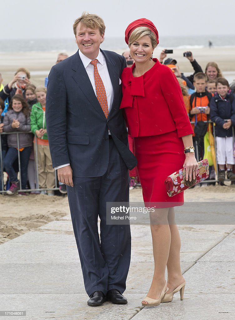 King Willem-Alexander of The Netherlands and Queen Maxima of The Netherlands visit the watersport location of Brouwersdam on June 21, 2013 in Goeree Overflakkee, Netherlands.