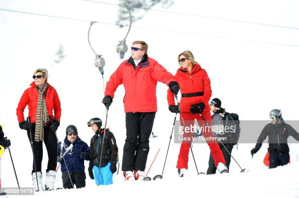 King WillemAlexander of the Netherlands and Queen Maxima of the Netherlands attends the annual winter photocall on February 17 2014 in Lech Austria