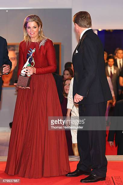 King WillemAlexander of the Netherlands and Queen Maxima of the Netherlands attend the German Media Award on March 21 2014 in BadenBaden Germany The...