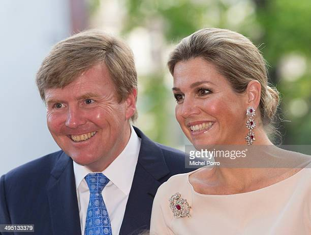 King WillemAlexander of The Netherlands and Queen Maxima of The Netherlands attend the opening of Holland Festival on June 1 2014 in Amsterdam...