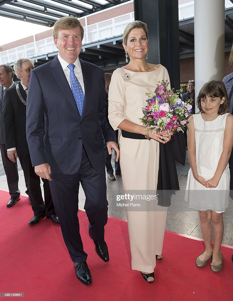 King Willem-Alexander of The Netherlands and Queen Maxima of The Netherlands attend the opening of Holland Festival on June 1, 2014 in Amsterdam, Netherlands.