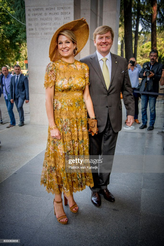 King And Queen Of The Netherlands Visit Italy : Day Four : News Photo